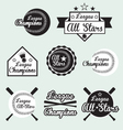 Baseball all star labels vector | Price: 1 Credit (USD $1)
