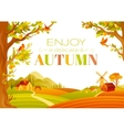 beautiful autumn landscape vector image vector image