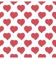 Big red hearts hand drawn artistic isolated vector image vector image