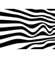 black and white of abstract crosswalk opart vector image