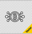 Black line cryptocurrency bitcoin in circle