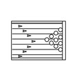 bowling field symbol vector image vector image