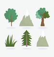 camping mountains bush trees vacations activity vector image vector image