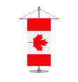 canadian flag on the metallic cross pole vector image