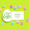 card poster eggs vector image