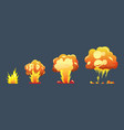 cartoon explosion animation frames for game boom vector image vector image