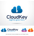 cloud key logo template vector image