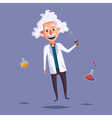 Crazy old scientist Funny character Cartoon vector image vector image