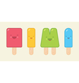 Cute Geometric Popsicles vector image vector image