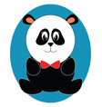 cute toy panda on white background vector image vector image