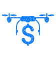 drone business grunge icon vector image vector image