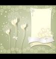 Elegant floral background with frame flowers bows vector image
