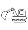 excavator icon outline style vector image vector image