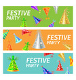 festive party advertising poster vector image vector image