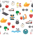 Fitness infographic icons vector image vector image