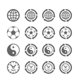 Four symbols of eternal moving vector image vector image
