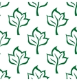 Green maple tree seamless pattern background vector image vector image