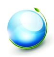 Green sphere concept vector image