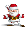 Happy Santa Open Hands vector image