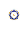k initial letter logo with luxury ornament vector image