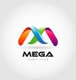 letter m mega colorful logo design vector image