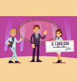 lottery winner rewarding bank cheque prize vector image
