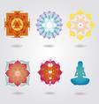 Mini Mandalas esoteric set vector image vector image