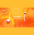 modern abstract background with orange color vector image
