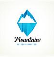 mountain outdoor adventure logo rock vector image vector image