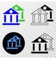 museum buildings eps icon with contour vector image