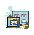 online poker flat style design vector image