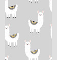 pattern with cute llama vector image vector image