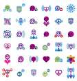 Peace and earth unusual icons set creative symbols vector image