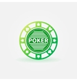Poker chip green icon