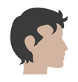 profile head man male character vector image vector image