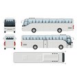 realistic travel bus side front back top view vector image vector image