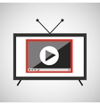 screen tv movie video player vector image vector image