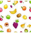 Seamless pattern with stylized fresh ripe fruits vector image vector image