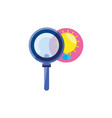 search magnifying glass with bulb light vector image vector image