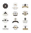 set coffee shop sign cafe symbol espresso vector image vector image