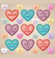 set heart shaped cookies for valentines day vector image vector image