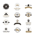 Set of coffee shop sign cafe symbol espresso vector image vector image