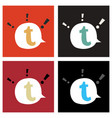 set of flat tumblr social media icons vector image vector image
