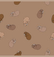 sweet kitten seamless coffee pattern vector image vector image
