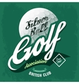 t-shirt label symbol made golf ball vector image vector image