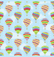travel seamless pattern of hot air balloons vector image vector image