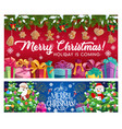 winter holiday christmas and new year vector image vector image