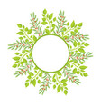 wreath frame place for text with green branches vector image