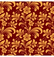 Yellow colored floral seamless pattern vector image vector image