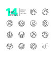 zodiac signs - set line design style icons vector image
